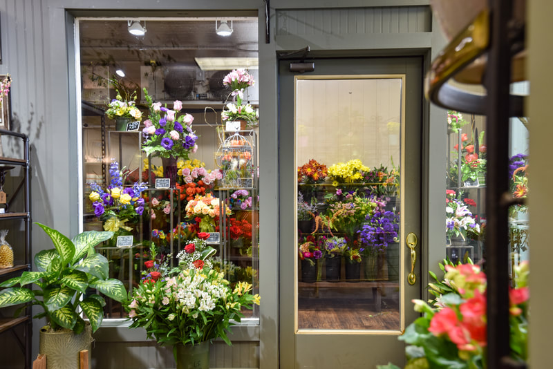 refrigerated blossoms at Bangor Floral